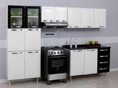 Gabinete (Balcão) de Cozinha Itatiaia Itanew Aço 2 Portas + 4 Gavetas S/ Tampo 120cm (G3G4ST-120)