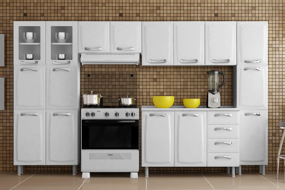 Image of: Armario Cozinha Itatiaia Criativa Aco 3 Portas 105cm Costa Rica