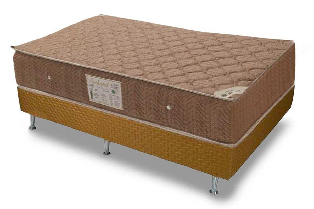 Conjunto Cama Box - Colchão Ortobom de Molas Nanolastic Orthotel + Cama Box Orthotel