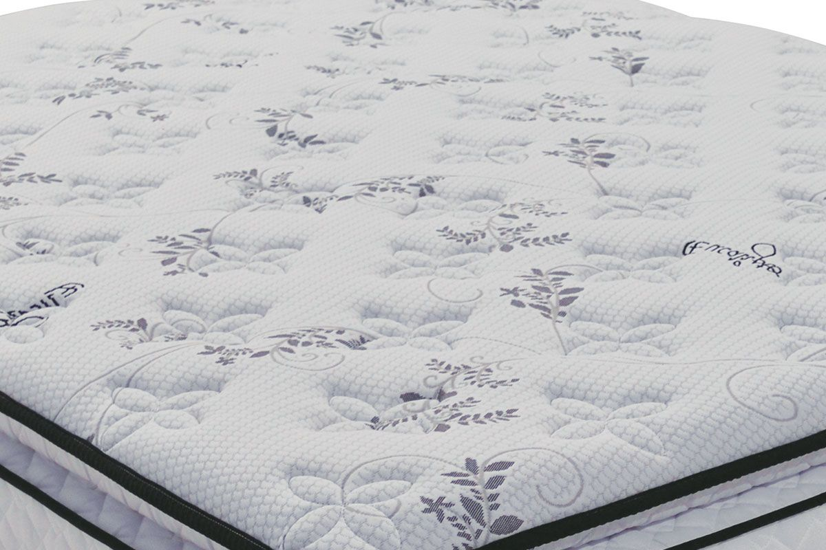Conjunto Cama Box - Colchão Probel de Molas Multilastic Tiffany + Cama Box Universal Couríno White