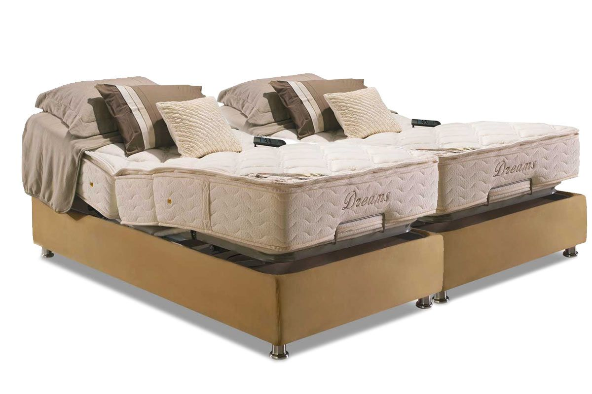 Conjunto Cama Box - Colchão Herval de Molas Pocket Ajustable Sem Massagem  MH 1430 + Cama Box Regulável