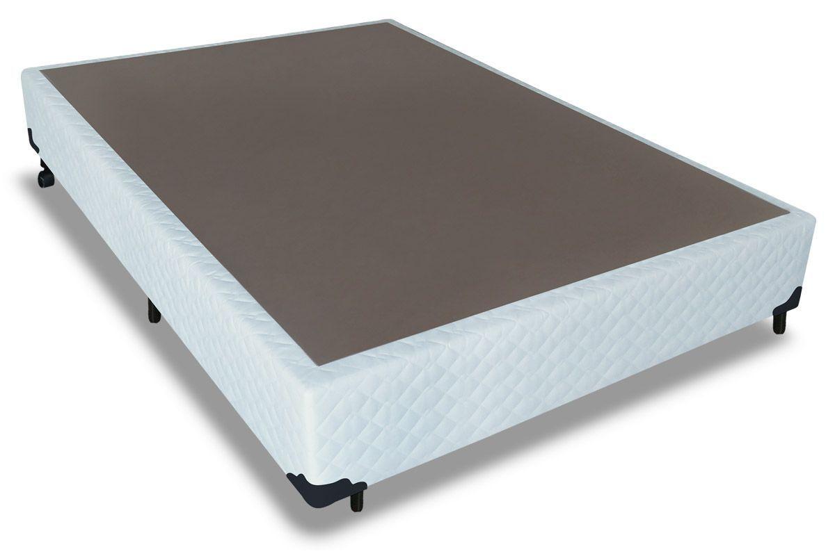Cama Box Base Probel Tecido Branco