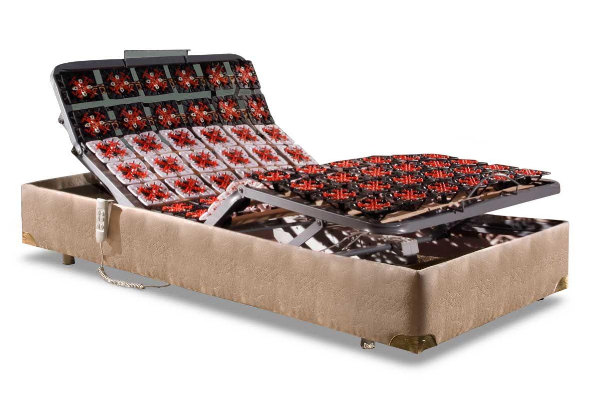 Conjunto Cama Box - Colchão Herval de Espuma HR + Cama Box Articulável c/Controle MH 1807