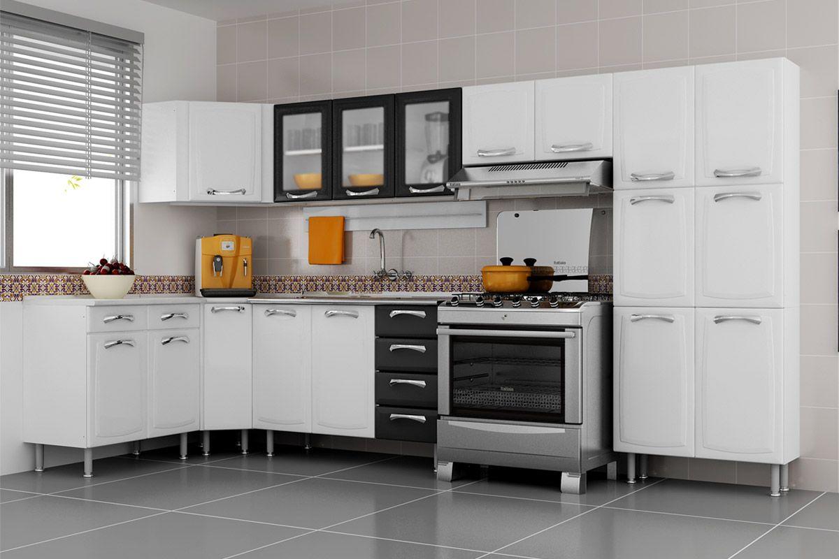 Gabinete (Balcão) de Cozinha Itatiaia Premium IG3G4 120 TL PIA Aço c  #AE6D1D 1200 800
