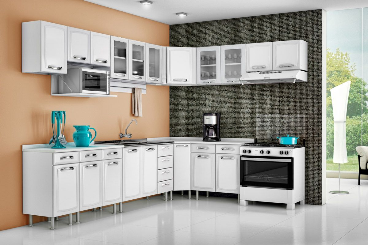 Cozinha Completa Itatiaia Premium de Aço CZ25 na Costa Rica Colchão # Armario De Cozinha Ferreira Costa