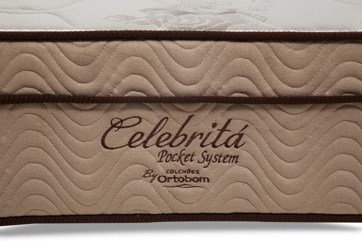 Colchão Ortobom de Molas Pocket Pró Vida/Celebritá Euro Pillow