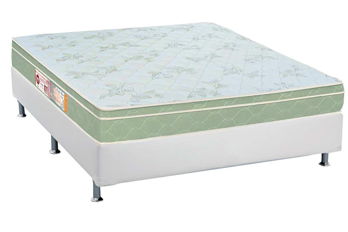 Conjunto Box - Colchão Castor de Espuma D33 Sleep Max + Cama Box Universal CRC Courino White