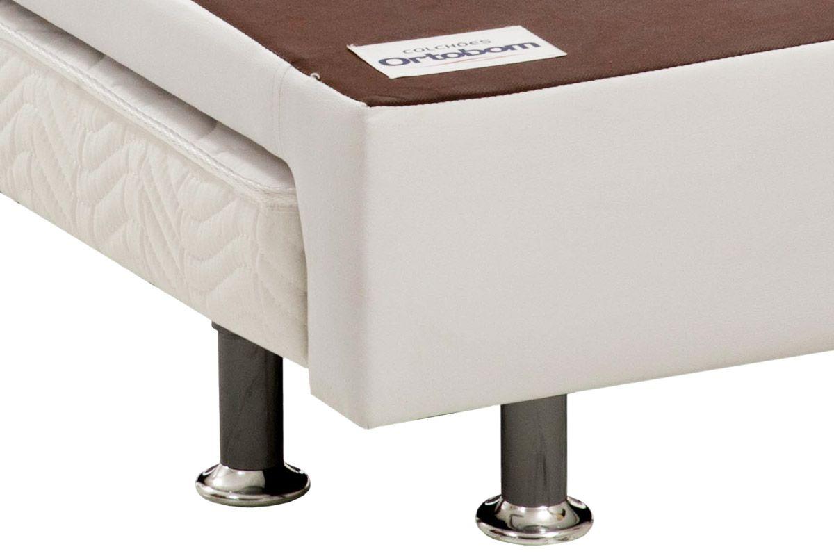 Bicama Box Ortobom Revolution c/ Auxiliar Couríno Bianco (Obrigatória a compra Cama Box + Auxiliar)