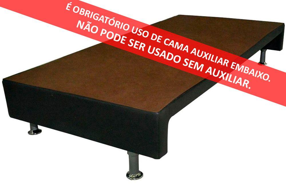 Bicama Box Ortobom Revolution c/ Auxiliar Corino Nero Black (Obrigatória a compra Cama Box + Auxiliar)