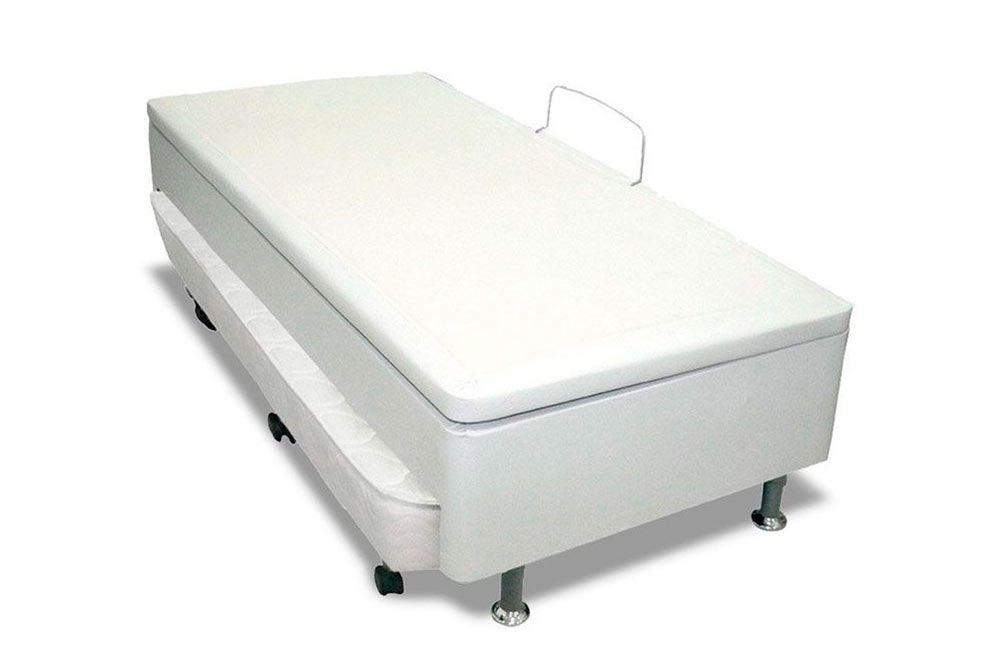 Bicama Box Baú  Ortobom c/ Auxiliar Courino Bianco (Obrigatório a compra Cama Baú + Auxiliar)