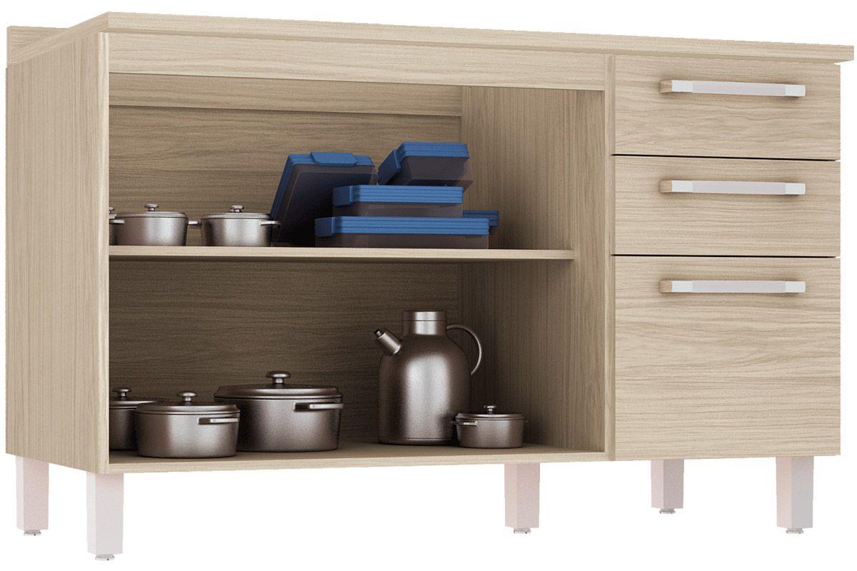 Home Móveis Cozinha Gabinete de Cozinha Balcão Henn Smart Pia 2 Gav  #3C628F 1200 800