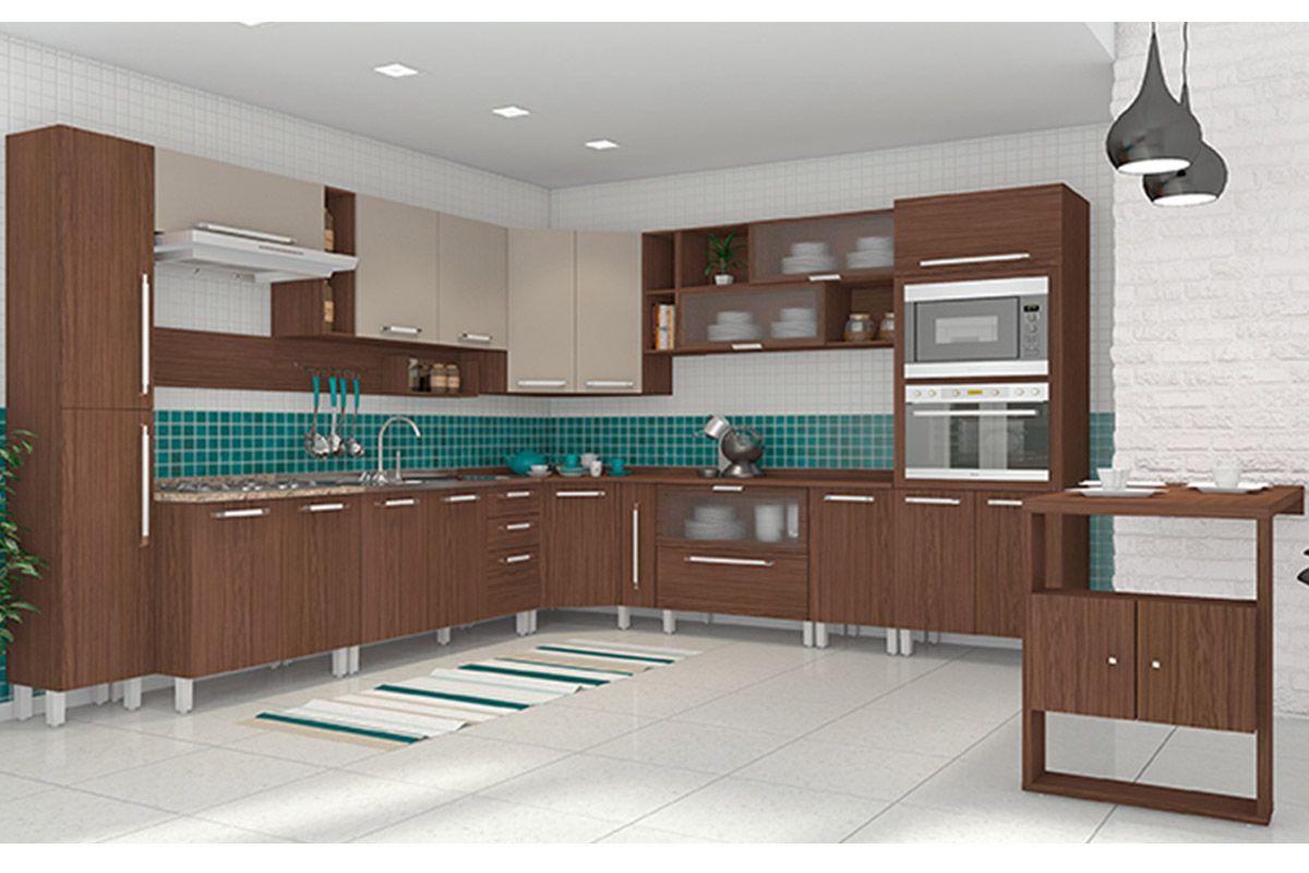 Home Móveis Cozinha Gabinete de Cozinha Balcão Henn Smart Pia 2 Gav  #336A69 1200 800