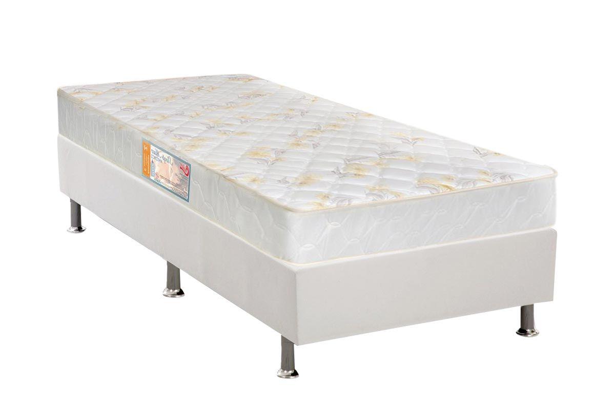 Conjunto Cama Box - Colchão Castor Ortopédico Sleep Firme Anatômico + Cama Box Universal Couríno White