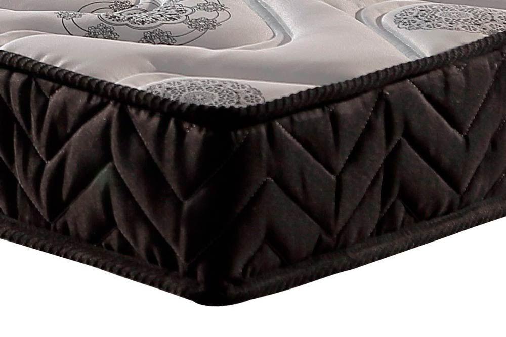 Conjunto Cama Box Universal + Colchão Paropas Espuma D45 Pasquale Black