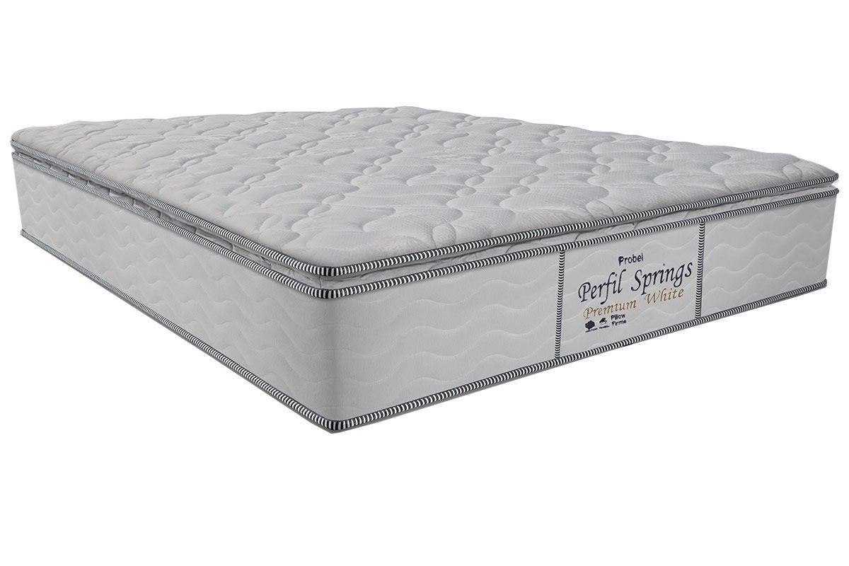 Colchão Probel de Molas Pocket Perfil Springs Premium White Pillow Top