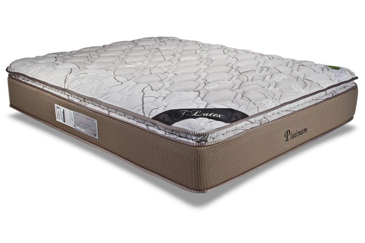 Colchão Luckspuma de Molas Pocket  Platinum New  Pillow Top One Side