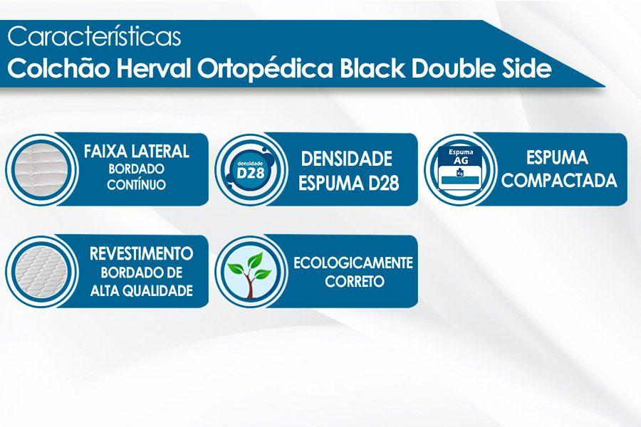 Conjunto Cama Box - Colchão Herval de Espuma Black + Cama Box Universal Nobuck Bege Crema