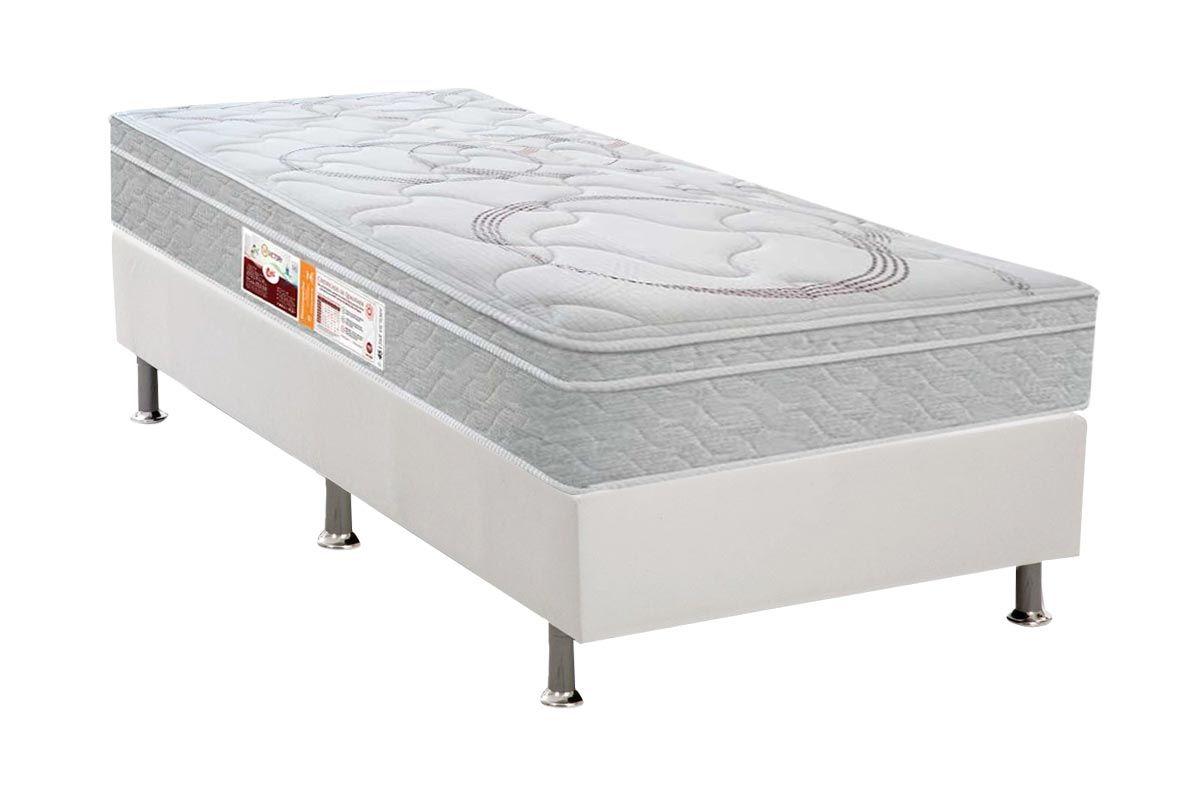 Conjunto Cama Box - Colchão Castor de Espuma D45 SR Victory + Cama Box Universal Courino White