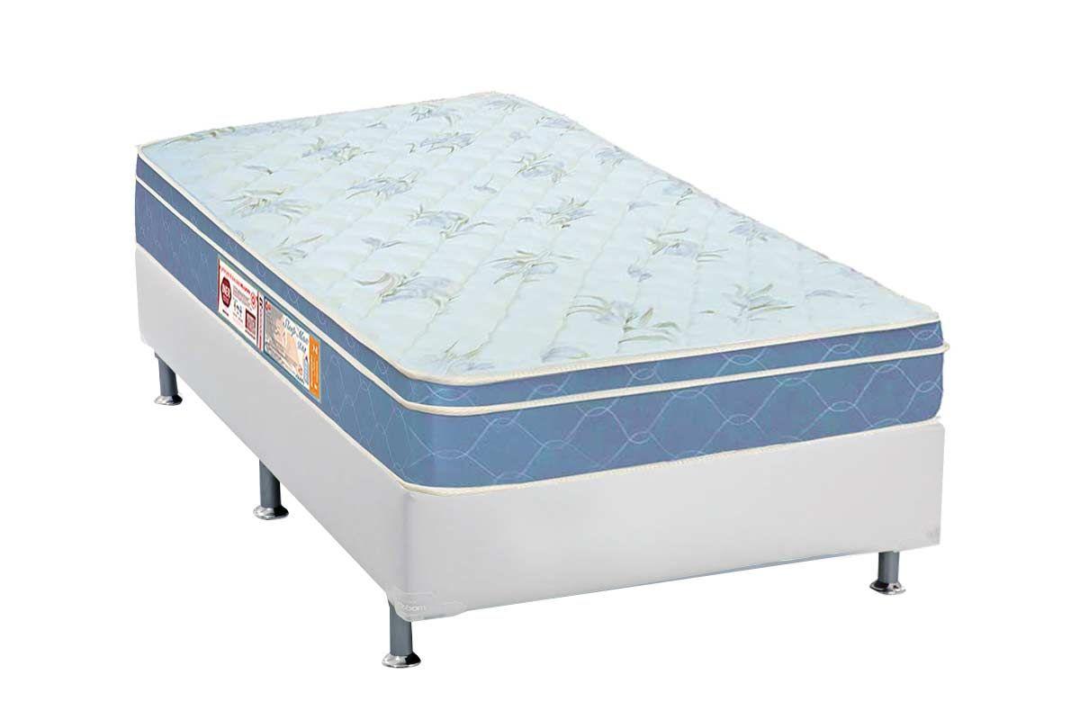 Conjunto Box - Colchão Castor de Espuma D45 Sleep Max + Cama Box Universal CRC Courino White