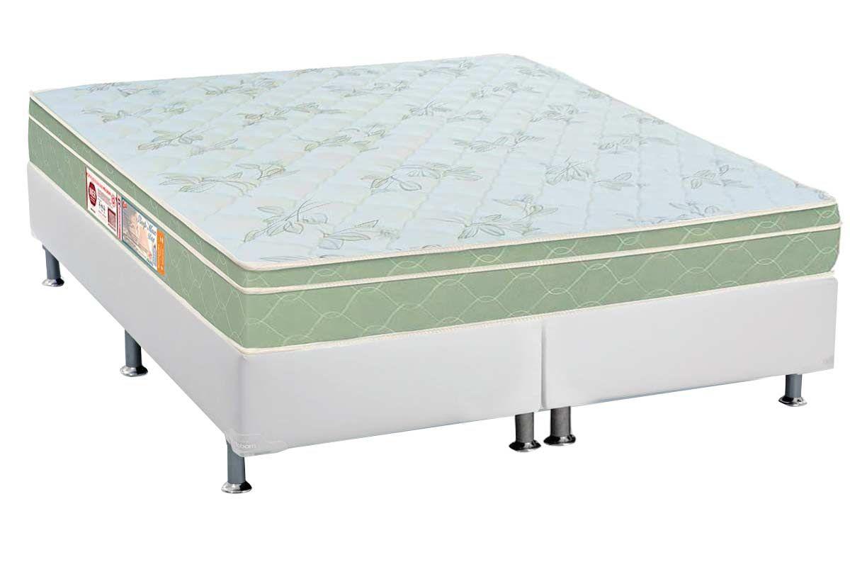 Conjunto Box - Colchão Castor de Espuma D33 Sleep Max Euro +  Cama Box Universal CRC Courino White