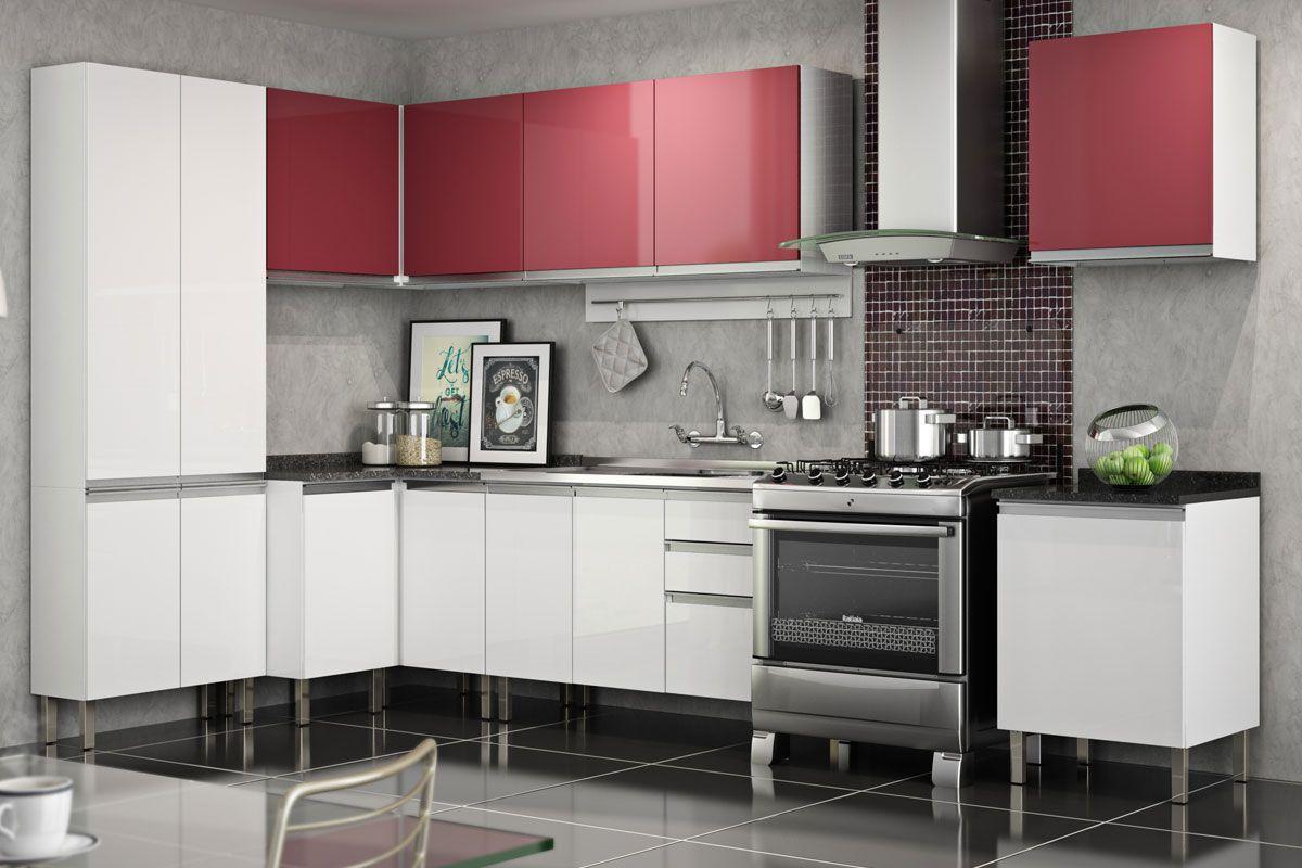 Gabinete De Cozinha Itatiaia Clarice Igc A O Canto Reto 2 Portas S