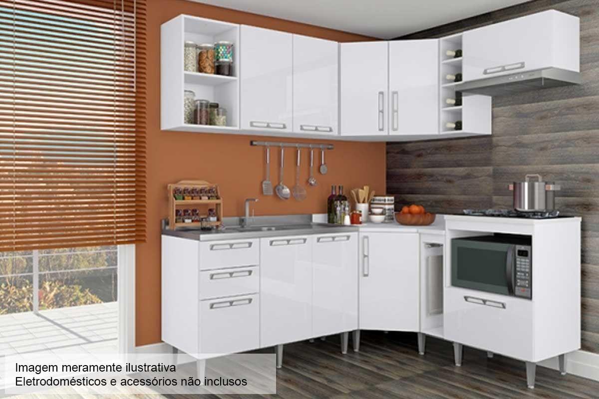 Cozinha Completa Art In Móveis Mia Coccina c/ 12 Peças CZ46 s/ Pia