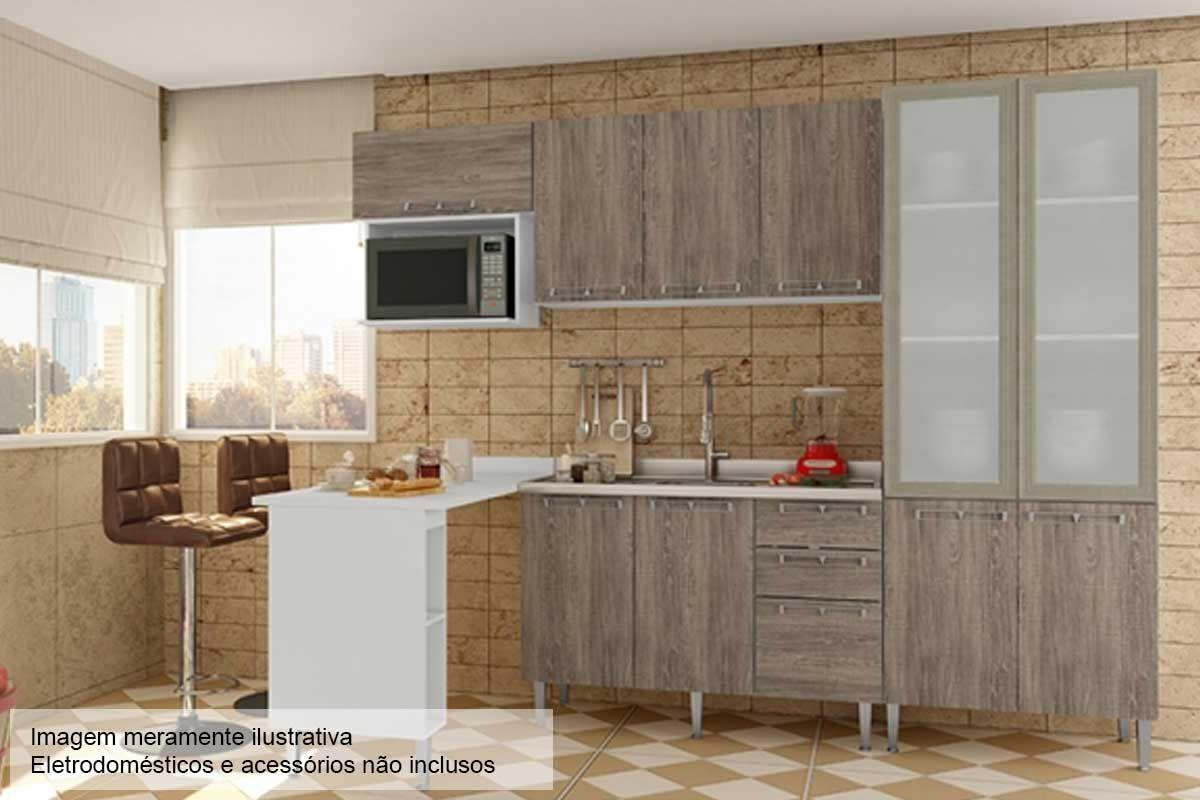 Cozinha Completa Art In Móveis Mia Coccina c/ 6 Peças CZ53 s/ Pia