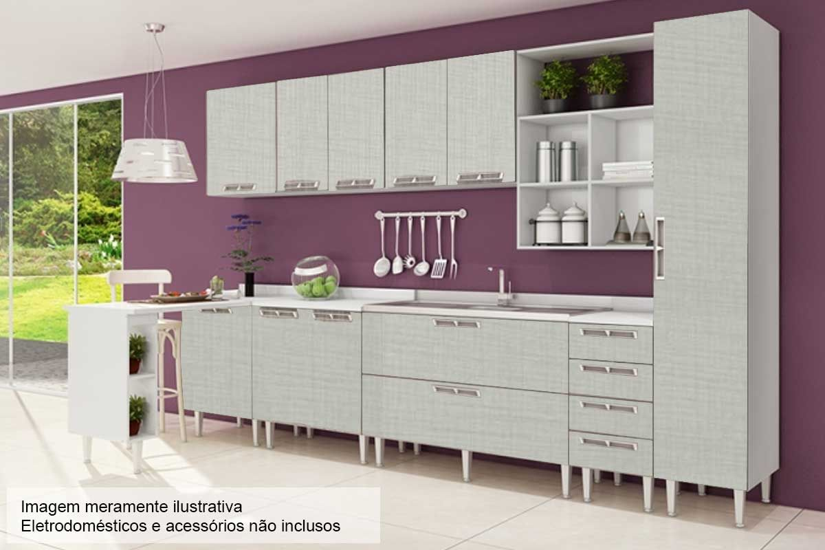 Cozinha Completa Art In Móveis Mia Coccina c/ 14 Peças CZ56 s/ Pia