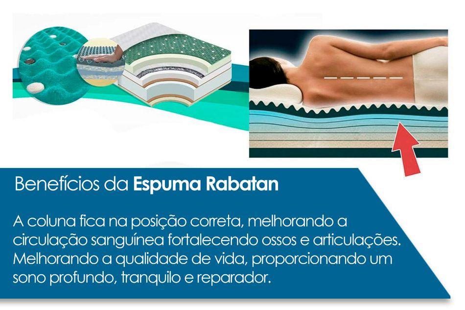 Conjunto Box - Colchão Anjos Espuma Ortopédica Confort Magnético + Cama Box Universal CRC Courino White