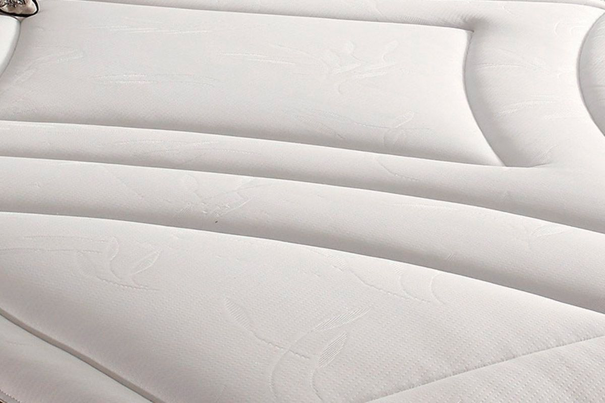 Conjunto Cama Box - Colchão Herval de Molas Maxspring American Pillow Top  + Cama Box Universal Couríno White