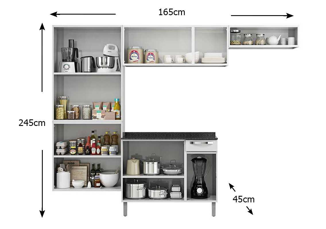 #644739 Cozinha Completa Itatiaia Rose COZ C/IG3G1 105 Aço (Paneleiro Nicho  1136x800 px Armario De Cozinha Completo Compacto #2021 imagens