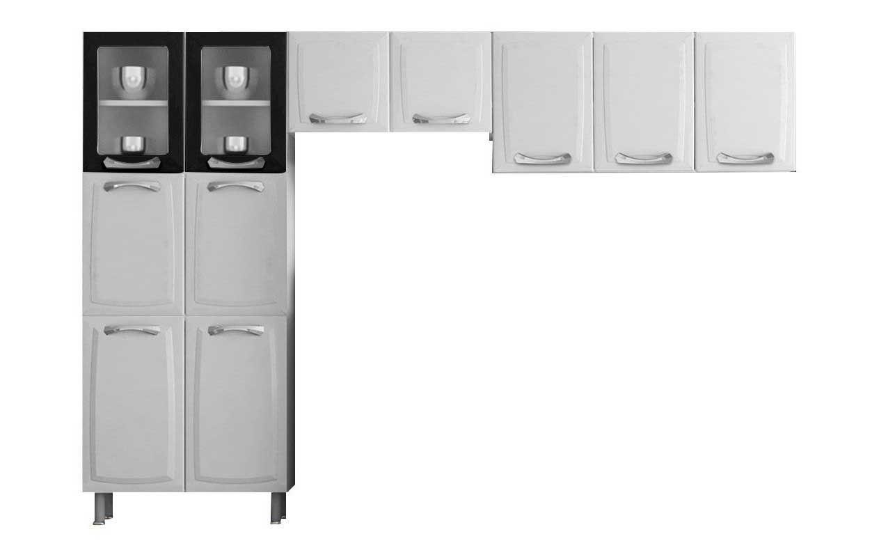 Cozinha Completa Itatiaia Itanew (Premium) de Aço 3 Peças (Paneleiro+2 Armários) COZ 02 NG