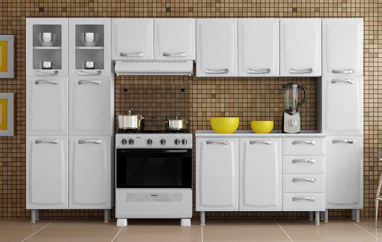Cozinha Completa Itatiaia Premium de Aço 3 Peças (Paneleiro+2 Armários) COZ 02 NG