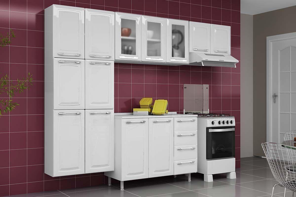 Cozinha Completa Itatiaia Criativa de Aço c/ 4 Peças (Paneleiro+2 Armários+Gabinete) Kit CZ80