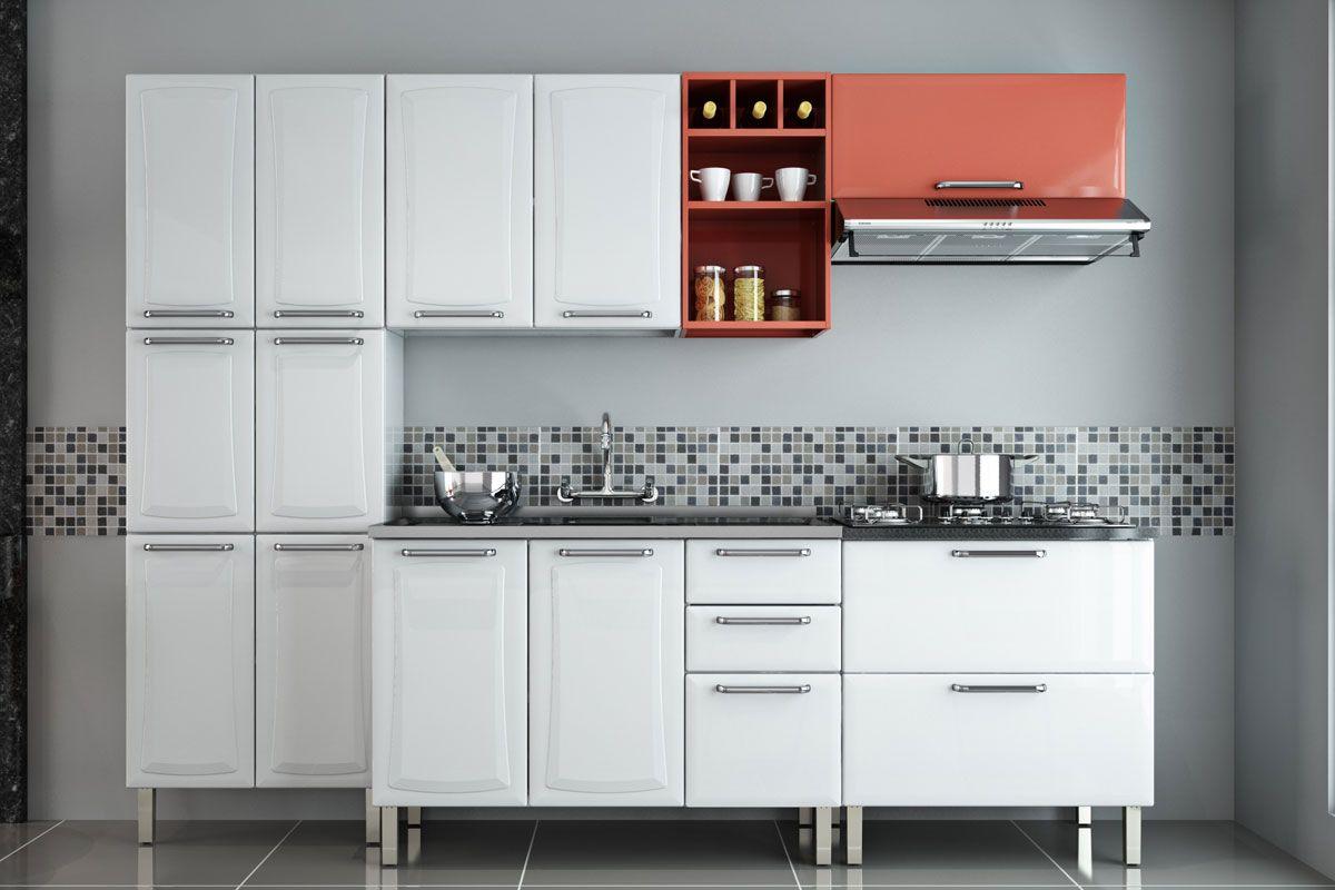Balcão de Cozinha Itatiaia Clarice IGH1G1 80 5B de Aço c/ Coocktop  #9A4231 1200 800