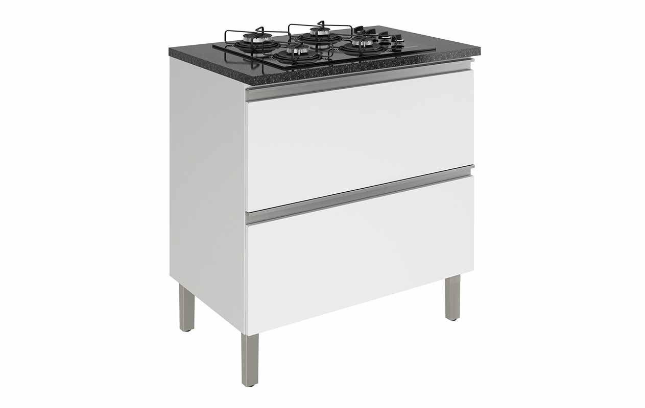 Balcão de Cozinha Itatiaia Clarice IGH1G1-80 de Aço C/ Coocktop 4 Bocas NG 4Q CG02