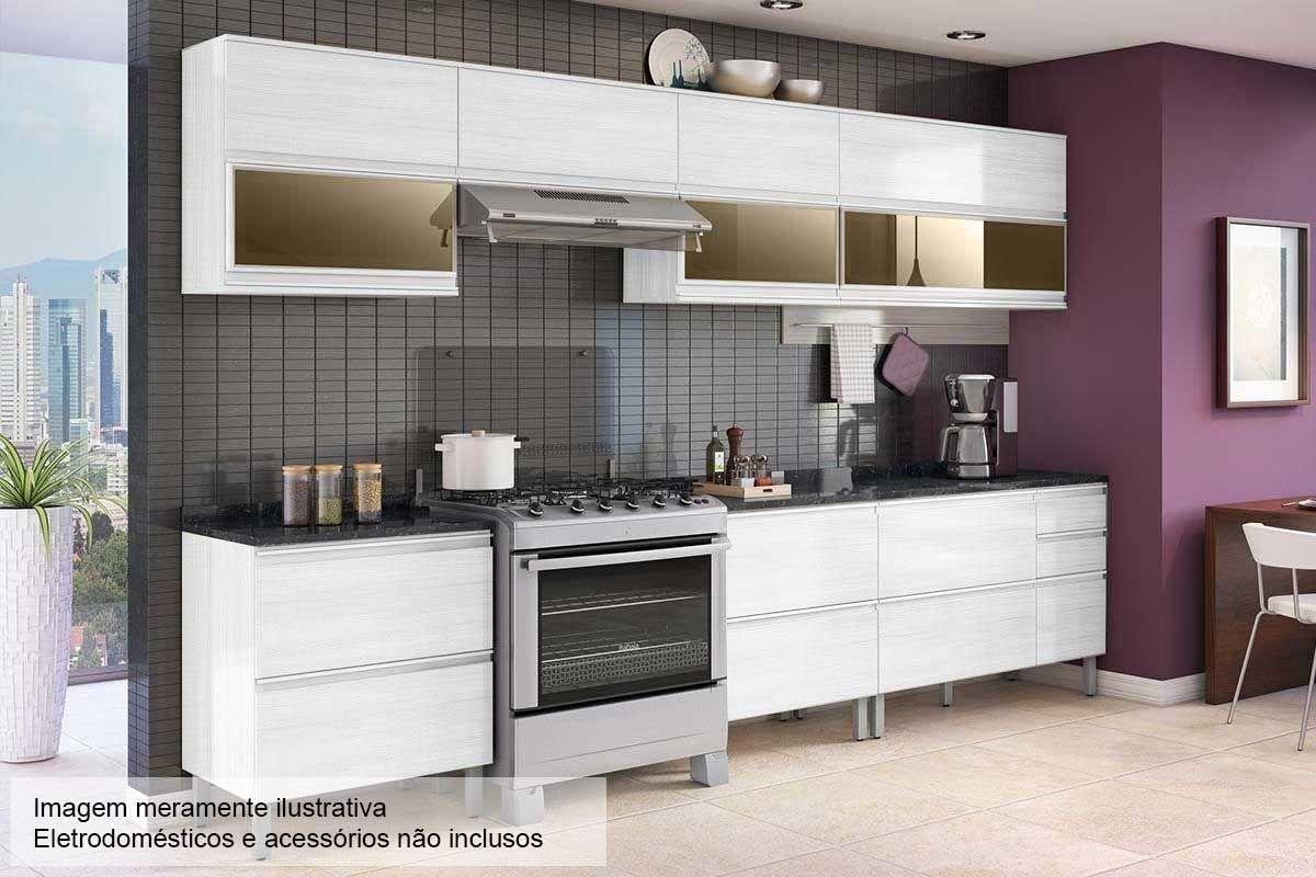 Armario De Cozinha Com Pe Cozinhas Planejadas Itatiaia Casas Bahia