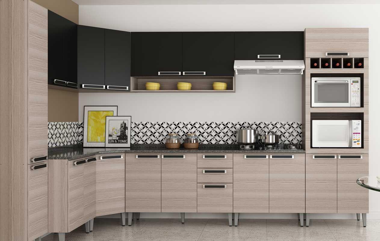 Balcão de Cozinha Itatiaia Jazz IG2A 80 de Madeira c/ Coocktop 5  #9C8D2F 1263 800