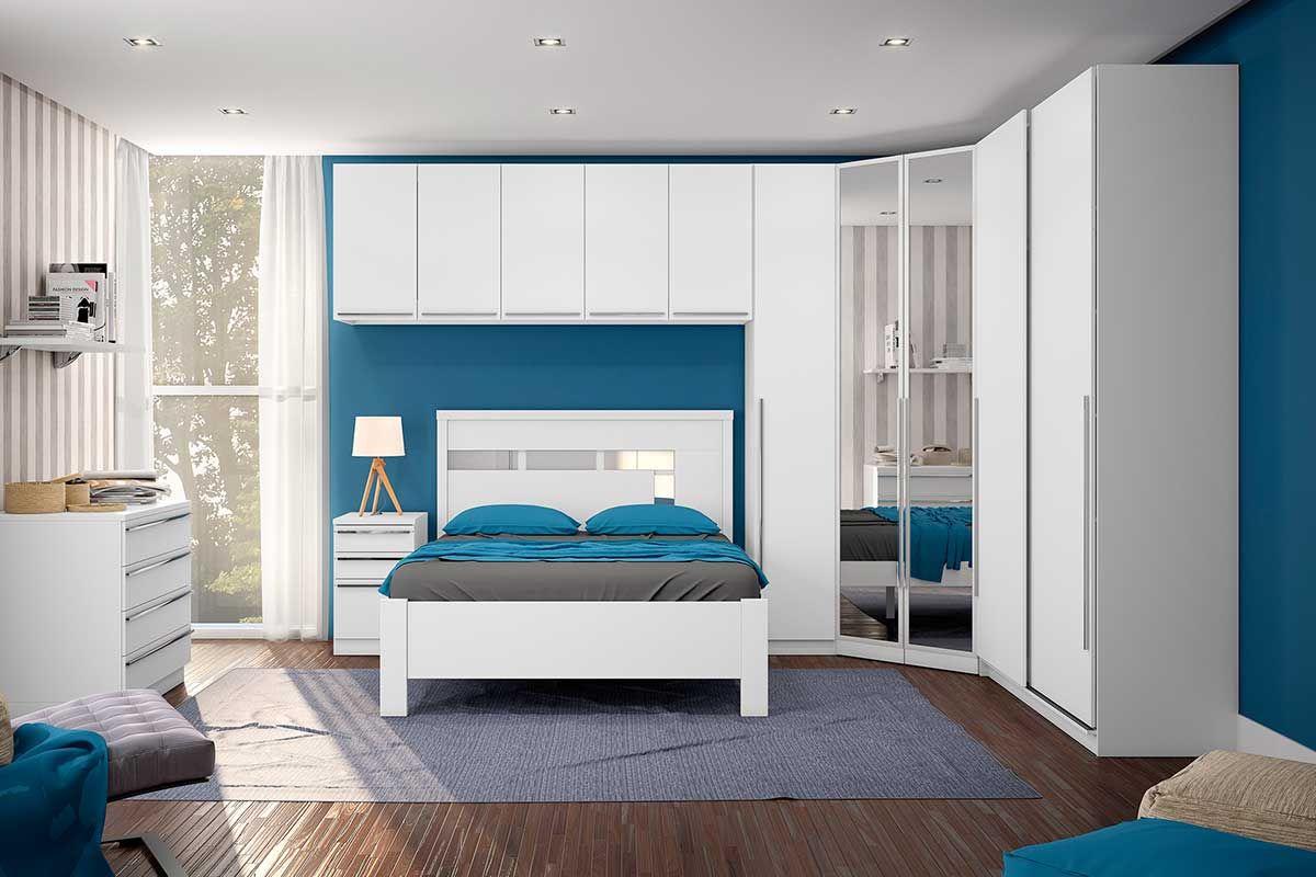 Guarda Roupa Roupeiro Closet De Canto Henn Exclusive 2 Portas  ~ Tamanho Ideal Quarto Casal Closet