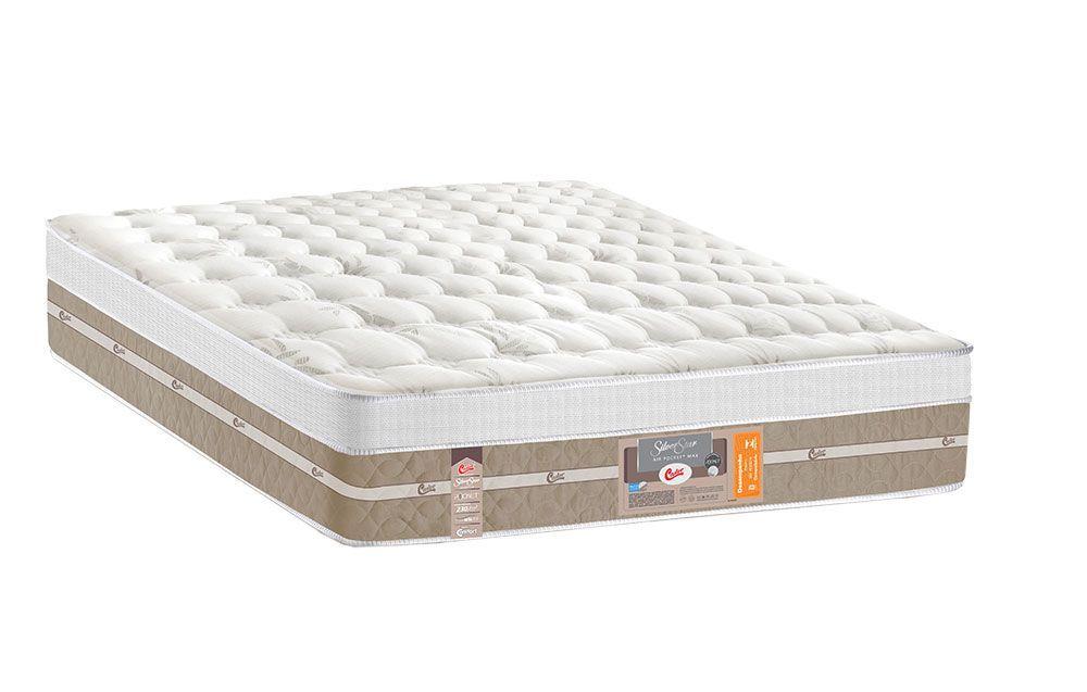 Colchão Castor de Molas Pocket Silver Star Air Max 3D Euro Pillow