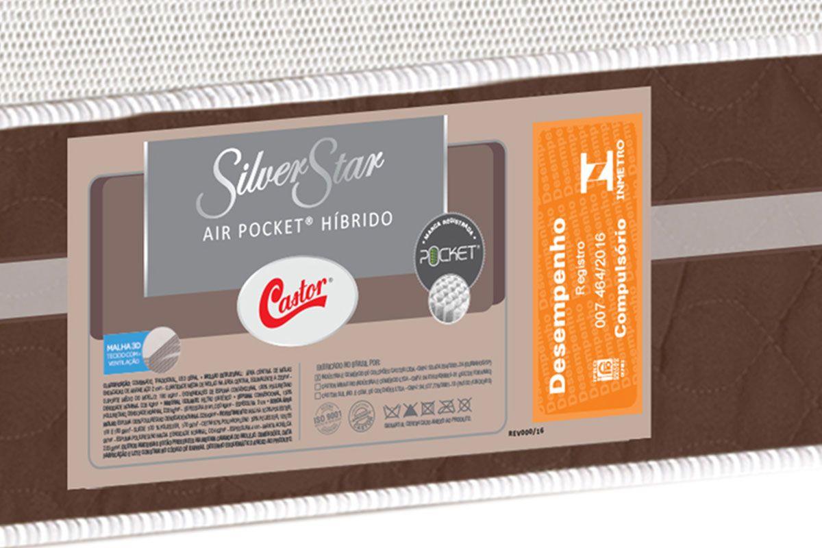 59907cd5d Foto meramente ilustrativa. Colchão Castor de Molas Pocket Silver Star Air  Híbrido One Face ...