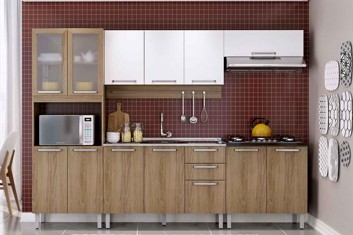 Cozinha Completa Itatiaia Cacau De Madeira C 3 Pe As Coz 3 2v