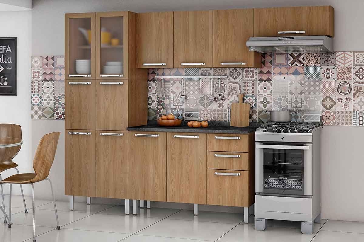 Cozinha Completa Itatiaia Cacau De Madeira C 3 Pe As Coz 2 2v