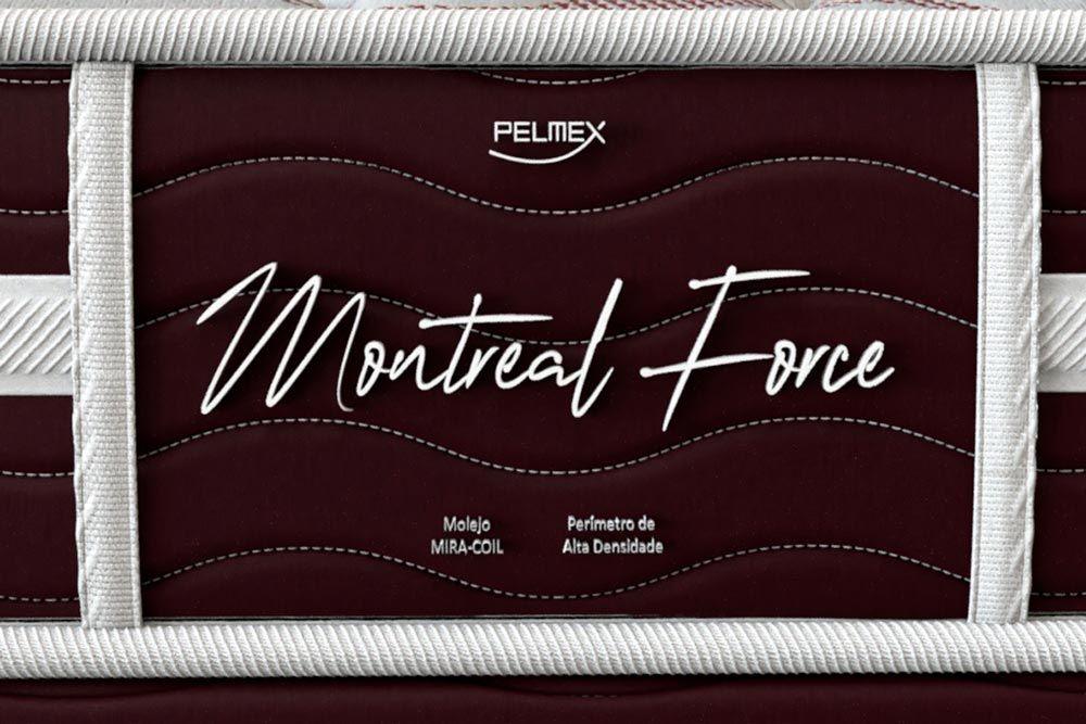Conjunto Cama Box - Colchão Pelmex de Molas Multilastic Montreal + Cama Box Universal CRC Camurça Black