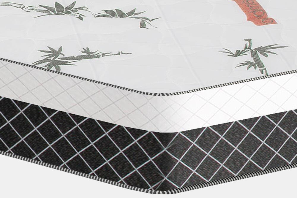 Conjunto Cama Box - Colchão Plumatex Ortopédico Falcon Ultra Firme + Cama Box Universal CRC Camurça Black