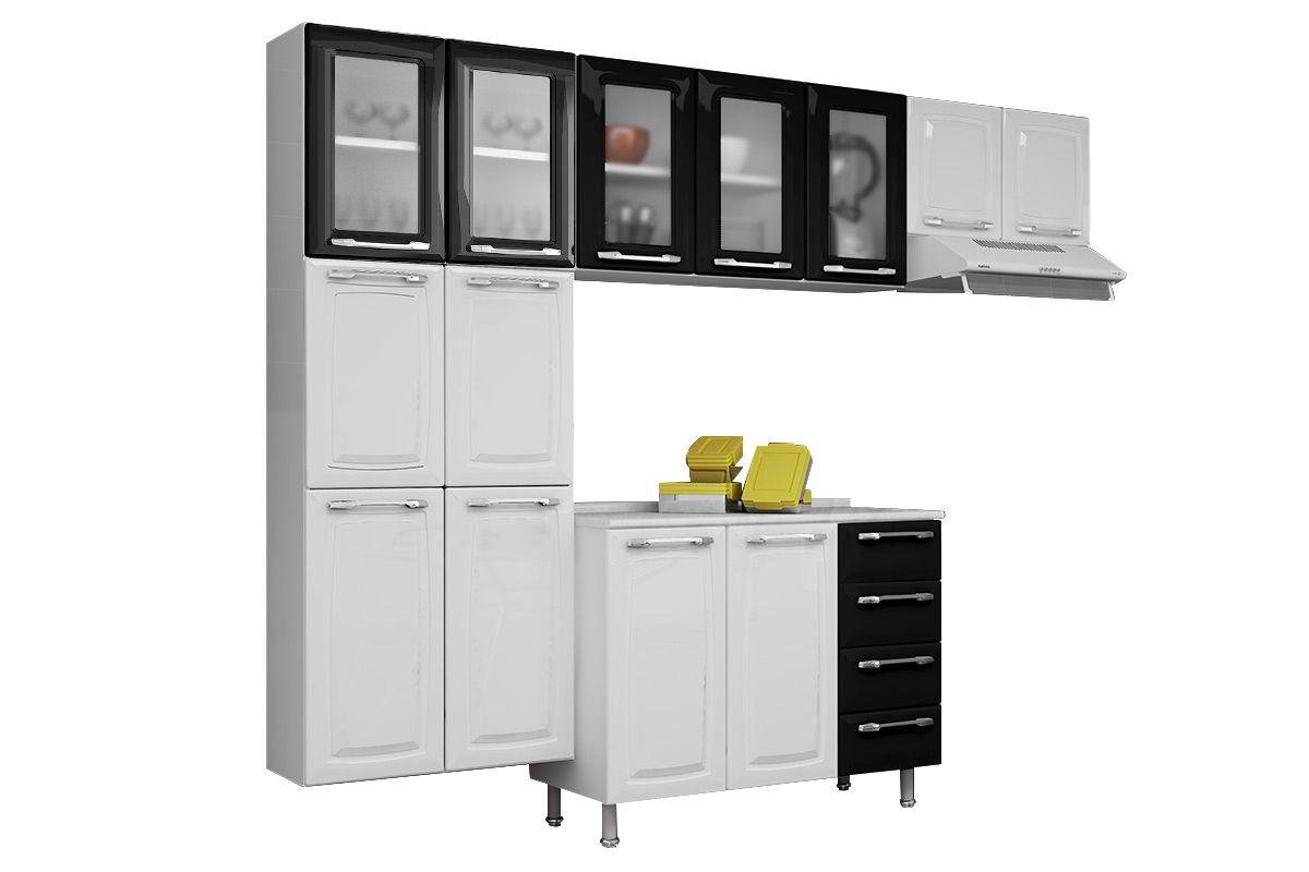 Cozinha Completa Itatiaia Criativa de Aço 5V 4 Peças (Paneleiro+2 Armários+Gabinete) COZ MXII