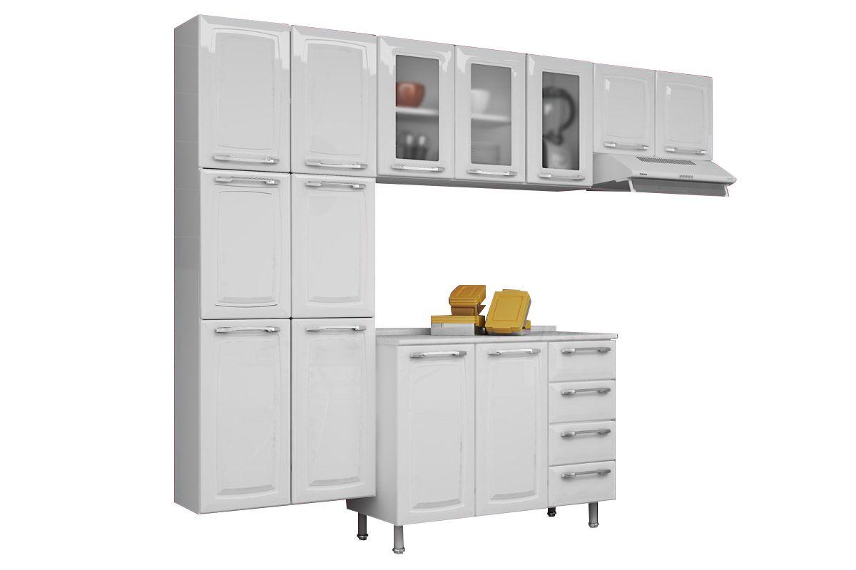 Cozinha Completa Itatiaia Criativa de Aço 3V 4 Peças (Paneleiro+2 Armários+Gabinete) COZ MXII