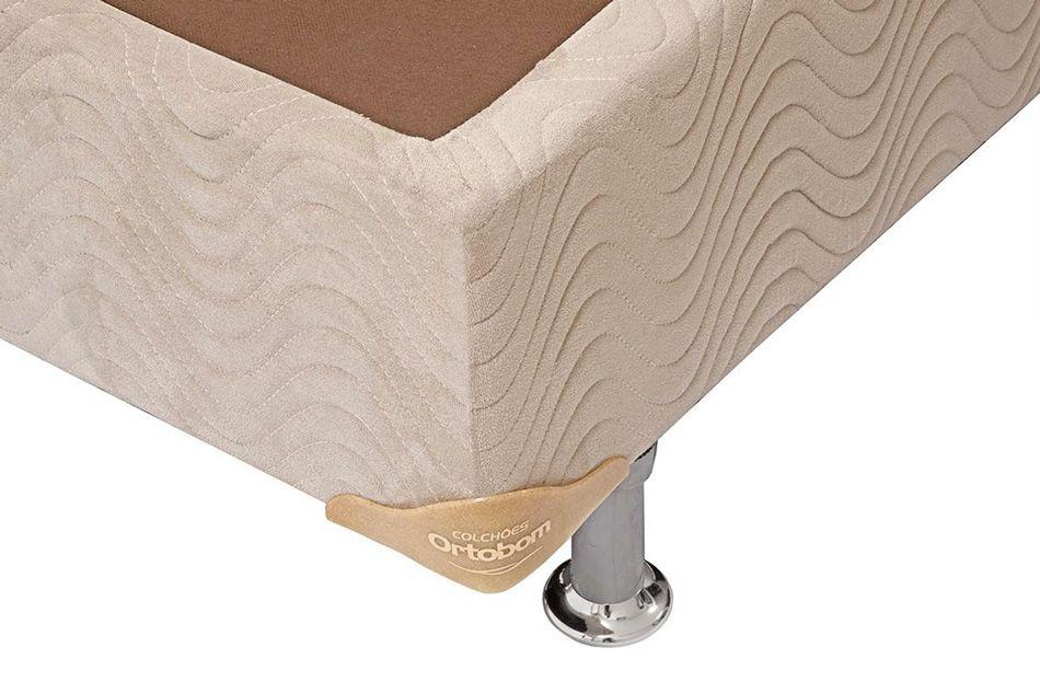 Cama Box Base Ortobom Universal Nobuck Bege Crema 020