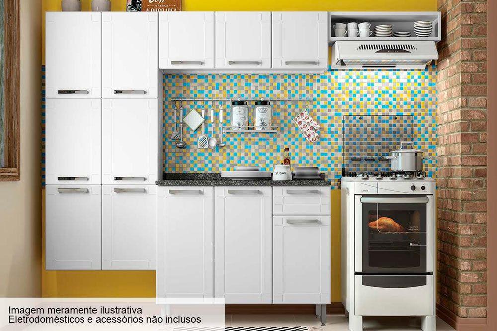 Cozinha Completa Bertolini Múltipla Aço 4 Peças (Paneleiro + 1 Armário+Gabinete+Nicho) CZ86
