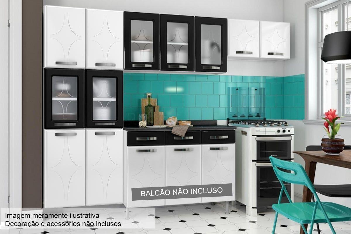 Cozinha Completa Telasul Rubi de Aço c/ 3 Peças (Paneleiro + 2 Armários) COZ100
